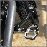 DK Custom Pivot Peg FootPeg Harley Trap traction pin Outlaw Foot pegs Shock absorbing ISO Isolator