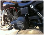 Harley-Davidson Dyna Coil Relocation Kit DK Custom Twin Cam DYNA'S Carbed Twin Cam BETTER LOOK ~ BETTER AIR-FLOW Black POWDER COAT Finish