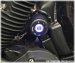 DK Custom Push-ButPush-Button LED Ignition Switch Stock or Relocated Position DK Custom Products Harley Davidson FITS SPORTSTERS 1995-2013 BETTER, CLEANER LOOK Black or polished Blue LED lightton LED Ignition Switch Harley-Davidson M-8 Milwaukee-Eight Sof