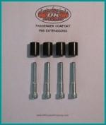 "DK Custom Passenger Comfort Foot Peg Extensions 1"" Sportster Nighster iron 48 Harley Davidson Swingarm"