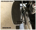 DK Custom Harley Floorboard Extension for Trikes Tri-Glide Touring Bagger Street Glide Freewheeler Reduce felt Heat