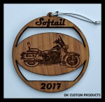 DK Custom Christmas Tree Holiday Harley Softail Laser Engraved Ornament