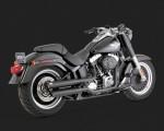 DK Custom V&H Twin Slash Slip-ons for Harley Sportster Dyna Softail - Matte Black Harley-Davidson Vance & Hines
