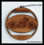 DK Custom Christmas Tree Holiday Harley Sportster Laser Engraved Ornament
