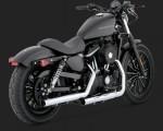 DK Custom V&H Straightshots Slip-ons for Harley Sportster - Chrome Harley-Davidson Vance & Hines