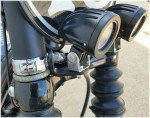 DK Custom Harley Universal Stealth LED Driving Passing Fog Lights Headlights