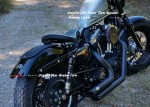 DK Custom Harley Sportster Dyna Softail Stealth Run brake turn LED Headlight Turn signals