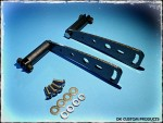 DK Custom Products Harley Sportster Dyna Stealth Adjustable Highway Peg Mounting Kit Chrome Black Carbon Fiber Look