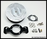 Complete CNC Cut DK Billet HiFlow 587 Air Cleaner for Harley Twin Cam DK Custom Harley Davidson Outlaw Air Cleaner Systems Complete EBS High Flow M-8 Milwaukee-Eight Softail Twin Cam Dyna  Touring Trike Freewheeler  Big Twin Stage I TBW Throttle By Wire