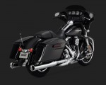 DK Custom V&H Twin Monster Round Slip-ons for Harley Dyna Touring - Chrome Harley-Davidson Vance & Hines