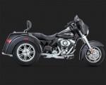 DK Custom Trike Deluxe Slip-On Exhaust Muffler V&H - Chrome Tri-Glide Harley Davidson Vance & Hines Trike