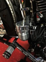 CnC Oil Filter Relocation Kit ~ Machine Cut Finish Sportster Dyna Softail Touring
