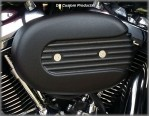 Wrinkle Black DK Custom Harley External Breather System EBS Performance Speed Fin Stage I air cleaner Outlaw 828