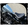 """Premium Leather 16"""" Bobber Solo Seat System w/ BARREL Springs"""