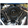 Black Bobber Style Complete HiFlow 587 Air Cleaner Twin Cam