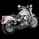 V&H Twin Slash Slip-ons for Harley Dyna - Matte Black-1