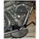 DK Custom Chrome Black Floorboards Mid or Forward Mount Sportster Dyna Softail Harley-Davidson  forward or mid controls Fold Up Chrome