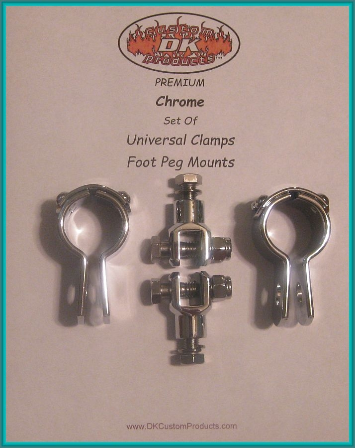 CHROME CLAMPS & FOOT PEG MOUNTS