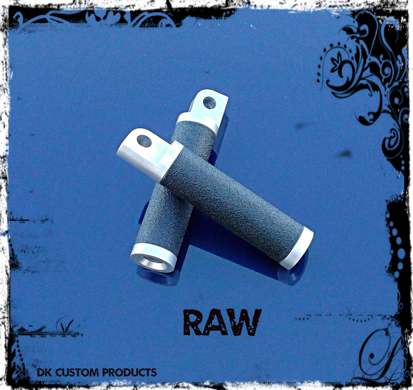 Raw Aluminum Gripper Grip Tape Foot Pegs Harley-Davidson
