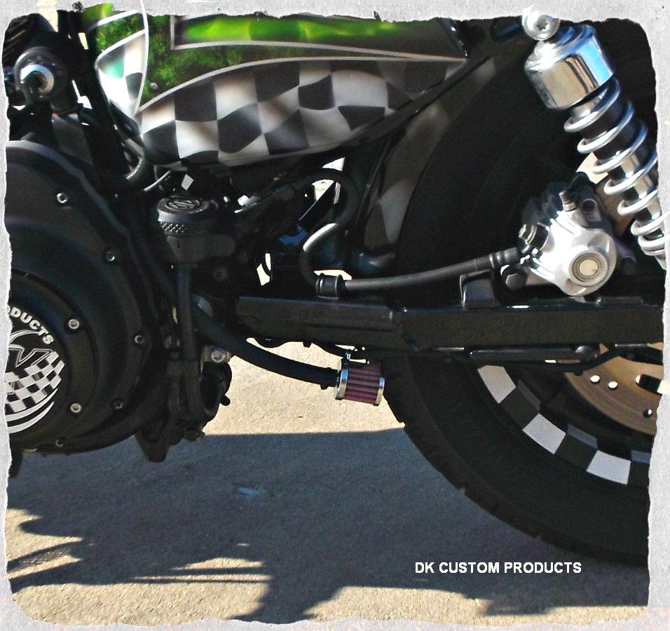 Premium Discrete Breather System Harley Sportster & Big Twin Evo
