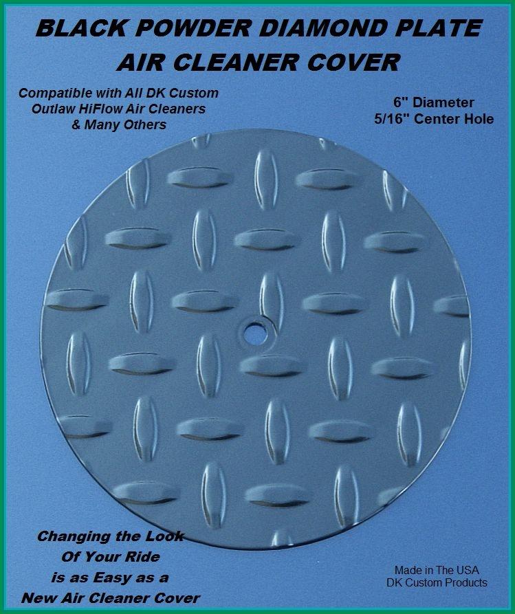 Black Diamond Face Plate Cover for DK Custom Outlaw Air Cleaner