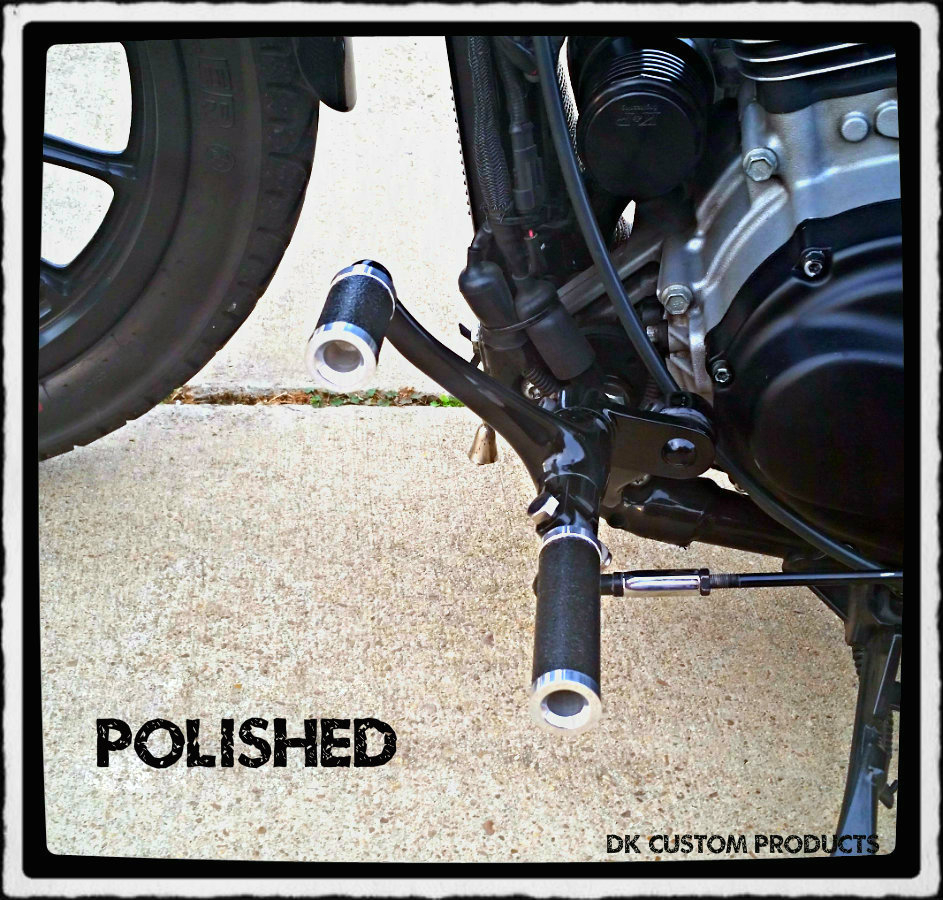 Polished Aluminum Gripper Grip Tape Foot Pegs Harley-Davidson