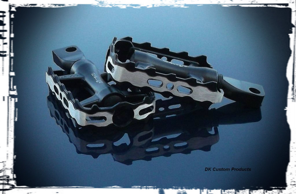 Slip Stream Trap Foot Pegs Fits Harley Sportster Dyna Softail